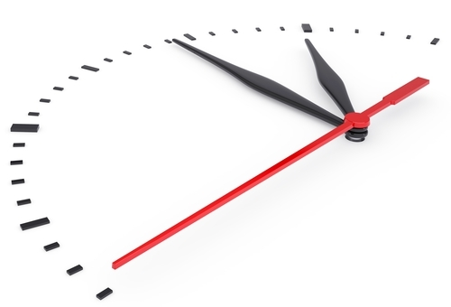 planning, The clock and timestamp without numbers. Isolated render on a white background